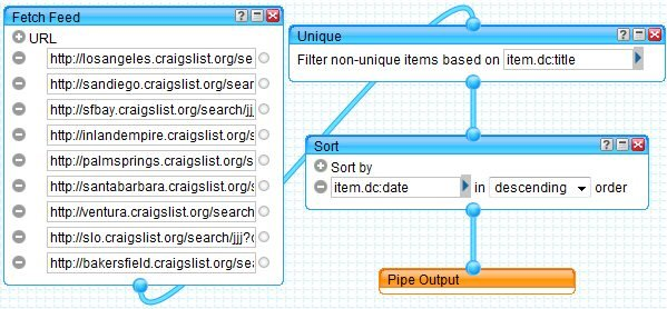 Yahoo Pipes example