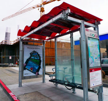 solar powered bus shelter
