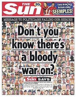 The Sun UK. Bloody war on