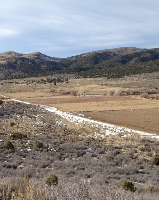 Site of the the initial attack. The Spanish Trail from Santa Fe to California came in from the left to the spring