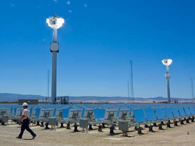 eSolar SunTower, Lancaster CA. The only Concentrating Solar Plant in the US