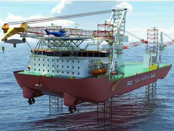 offshore wind farm installer