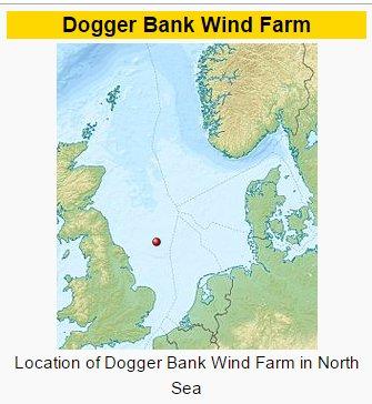 Dogger Bank wind farm location