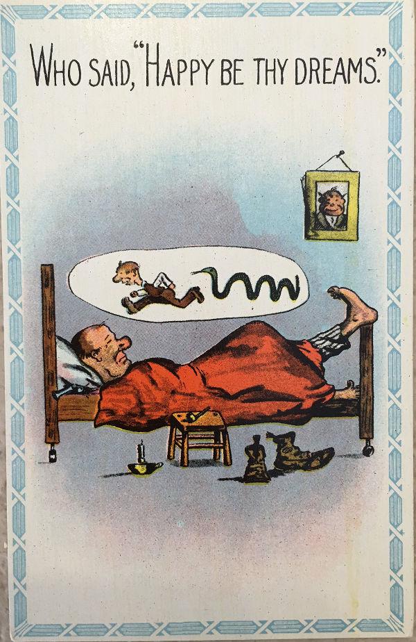 Temperance postcard. Delirium tremens