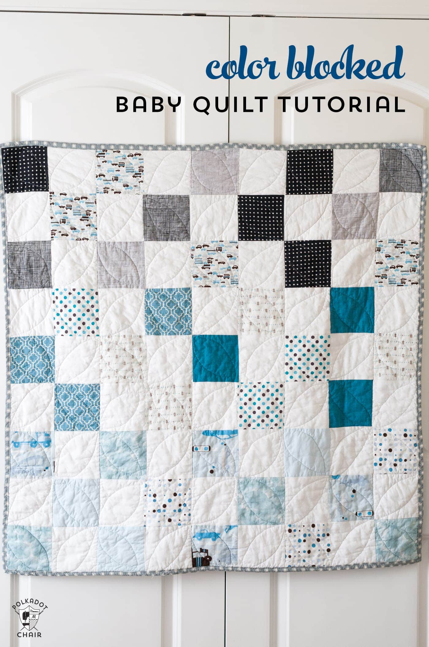Baby Quilts.com Color Blocked Patchwork Baby Quilt Tutorial A Free Quilt