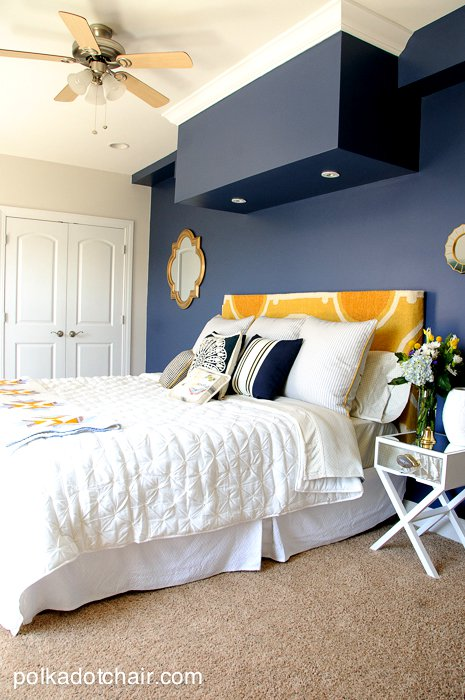 Batik Tuch Navy And Gold Guest Bedroom Ideas, Guest Bedroom Colors