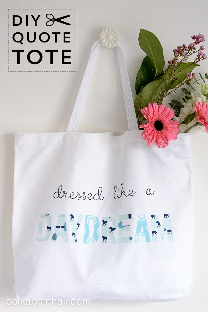 Quilt Blocks Dressed Like A Daydream, Diy Tote Bag