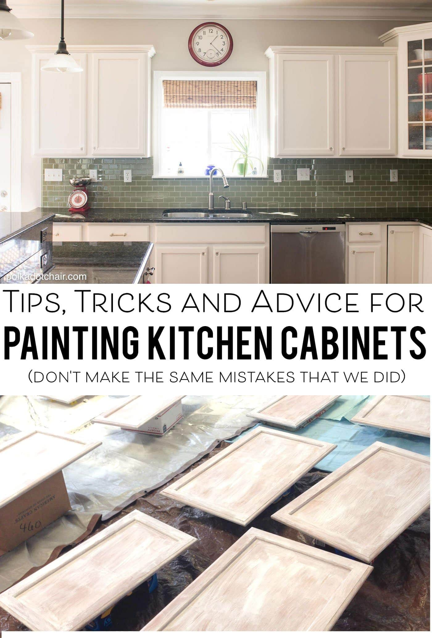 How To Paint Kitchen Cabinets White With A Sprayer Tips For Painting Kitchen Cabinets The Polka Dot Chair