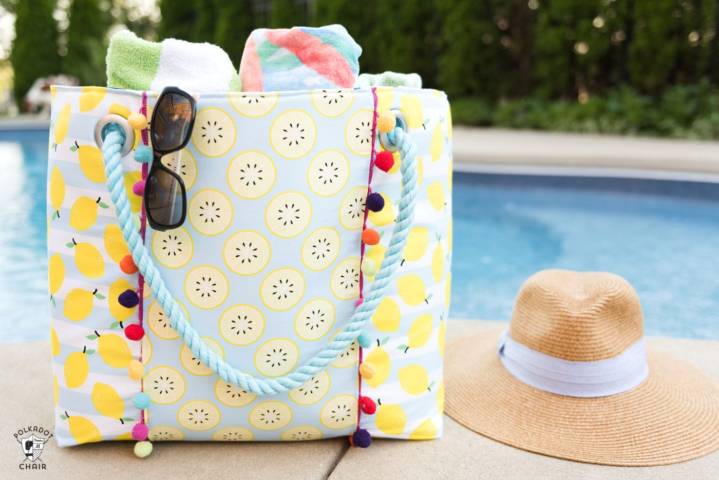 Modern Room Designs Oversized Beach Bag Sewing Pattern - The Polka Dot Chair
