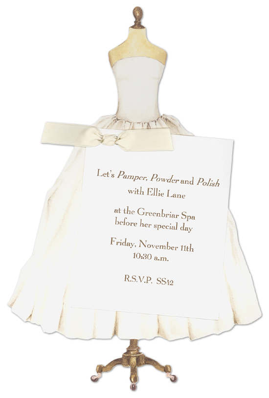 Invitation Wedding Dress Code Wedding Dress Bridal Invitations | Polkadotdesign.com