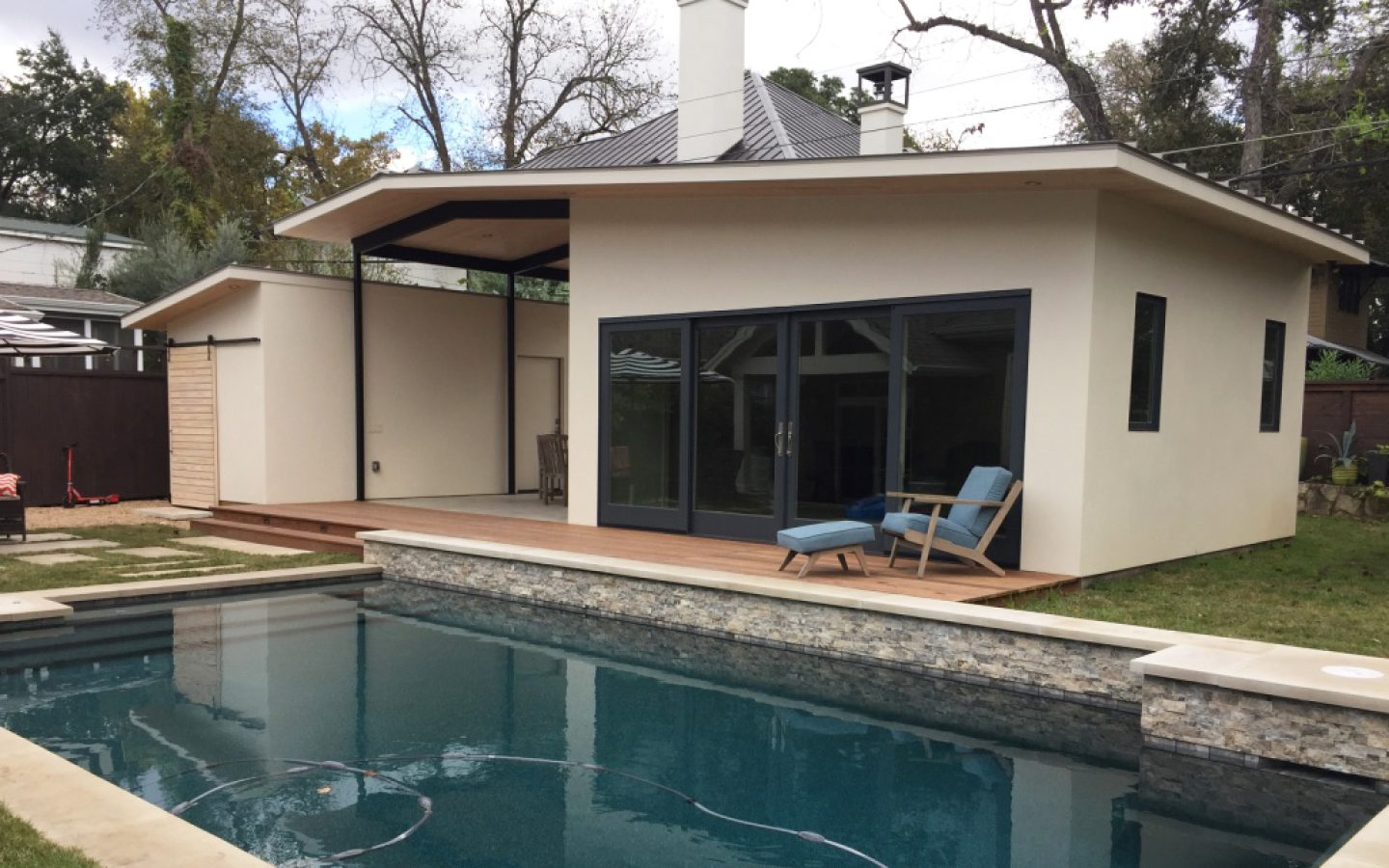 Poolhaus West Enfield Poolhouse Pollen Architecture Modern Architects
