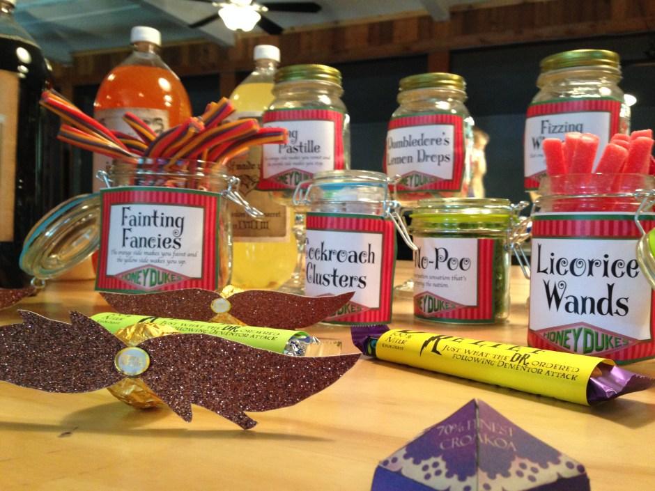 Honeydukes, DIY, Harry Potter Party, Hogwarts Party