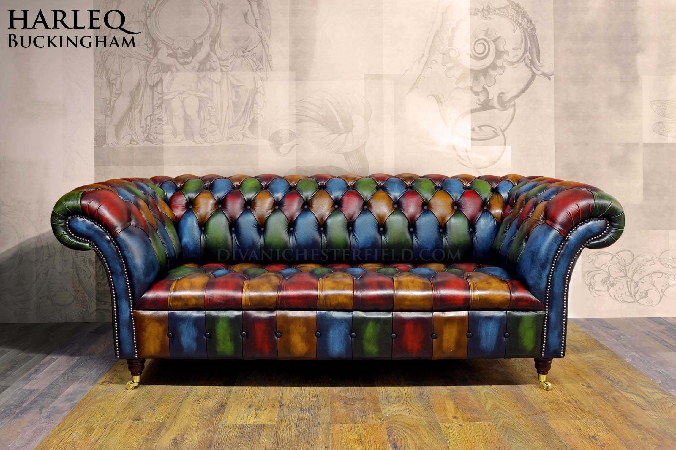 Canapé Chesterfield Patchwork Chesterfield Patchwork Sofa Ghost Walton Patchwork Chesterfield