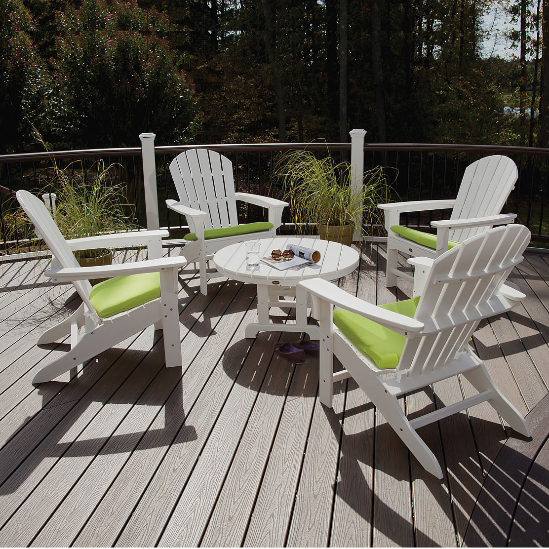Trex Cape Cod Adirondack 5 Pc Conversation Group Trex Outdoor Furniture Adirondack Chairs Trex Outdoor Furniture Collections