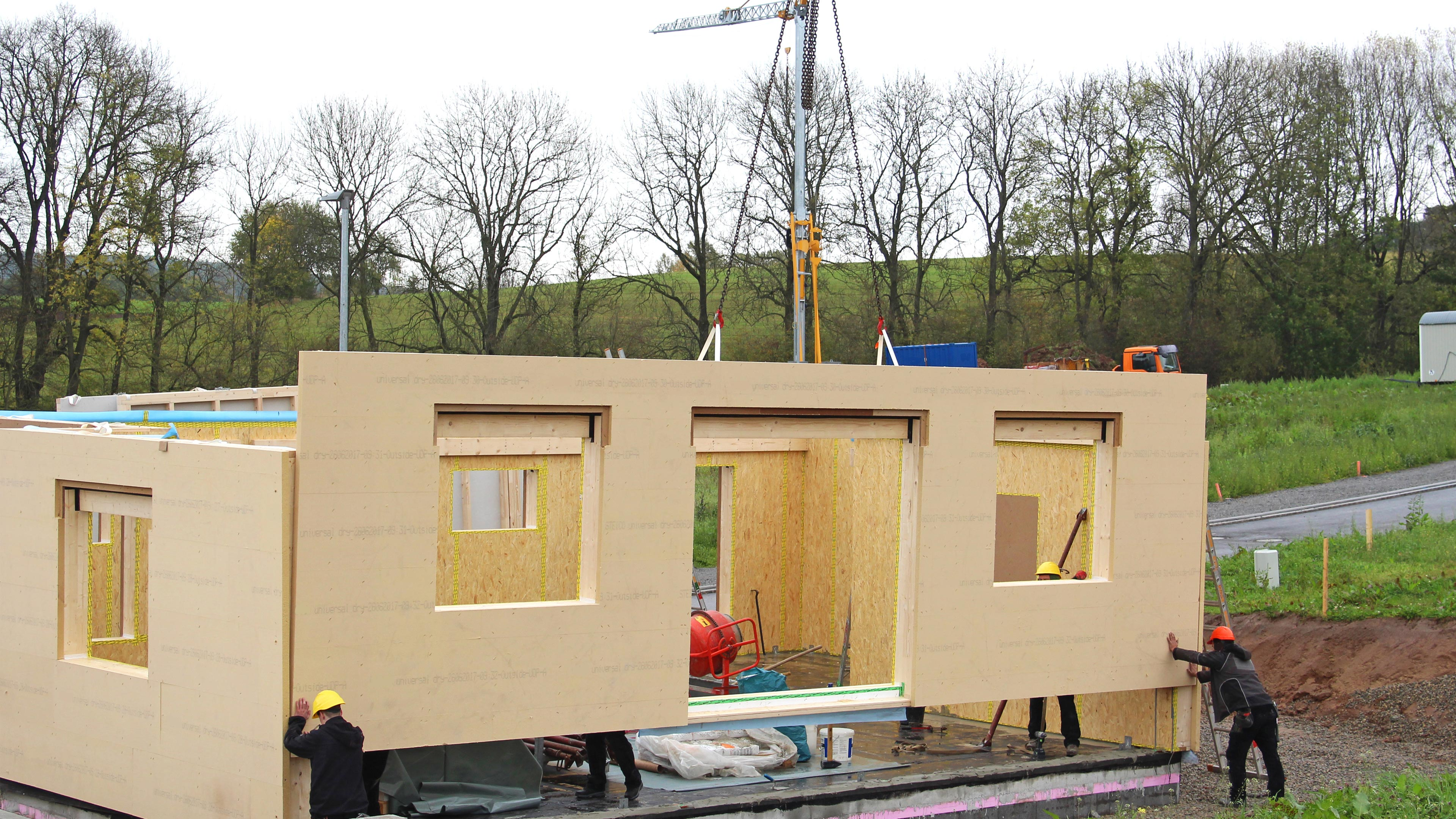 Isolation Exterieur Sur Osb Polystyrene In Prefabricated Walls Polyform
