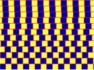 optical illusion red lines