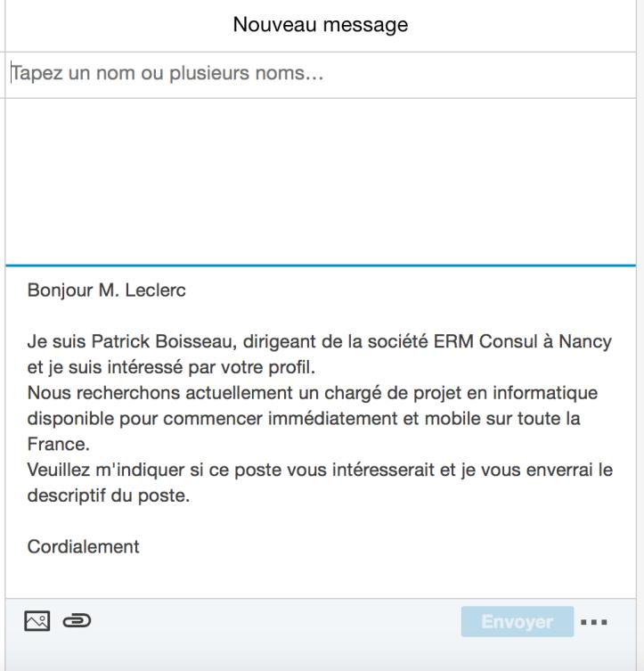 comment envoyer son cv par email