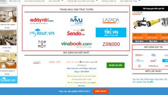 Dùng widget hiển thị danh sách mã giảm giá, nhà cung cấp