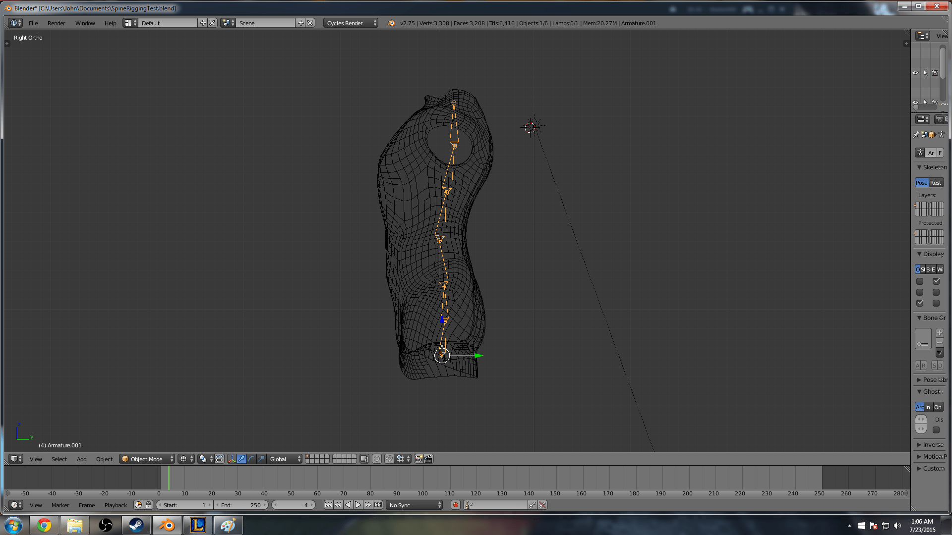 Blender Basic Basic Spine Rigging In Blender Polyknight Games