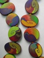 Pier Voulkos, Swirl Beads- detail, 1992, polymer collection of Racine Art Museum