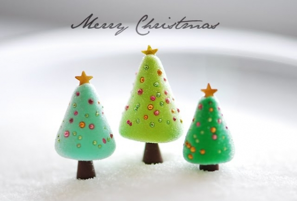 Christmas decorations made from polymer clay