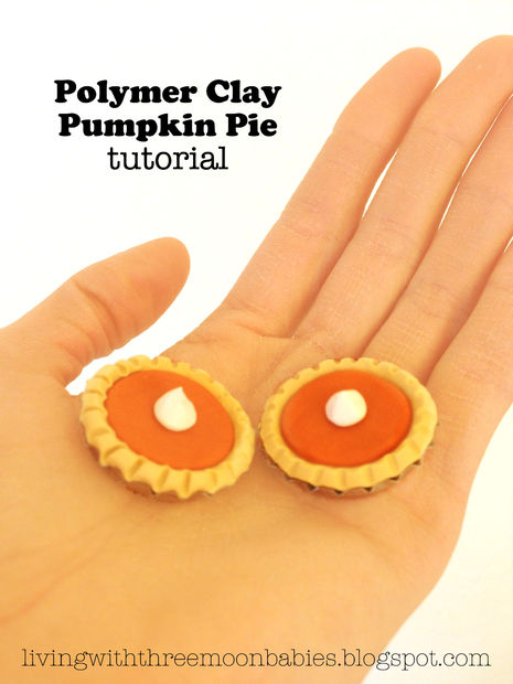 polymer clay pumpkin pie
