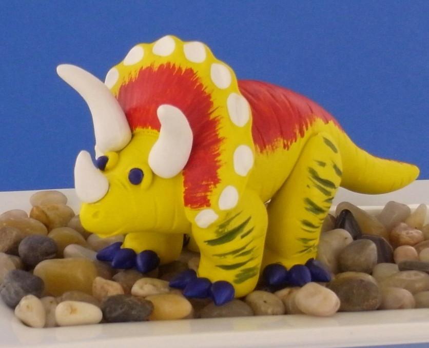 polymer clay dinosaur