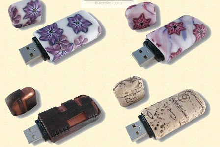 Covering USB Flash Drives with Clay