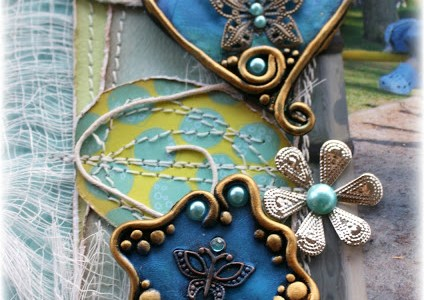 Mica and Polymer Clay Embellishments
