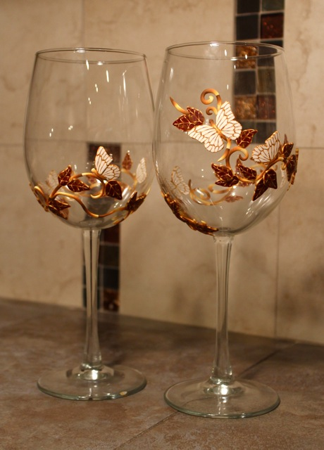 Wine Glasses Polymer Clay Fall Wine Glass | Polymer Clay Workshop
