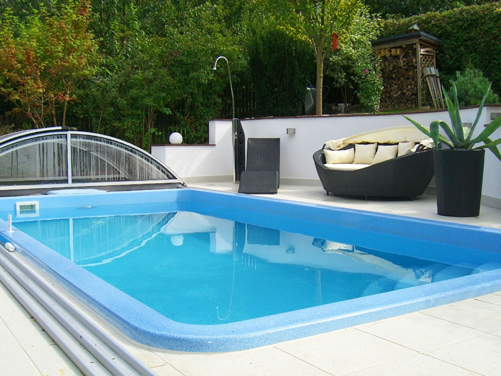 Poolbau Chemnitz B M Poly Pool Pools Schwimmbecken Poolüberdachung Mit