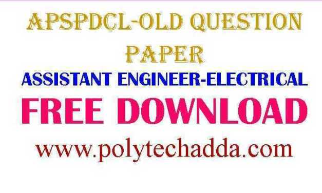 APSPDCL-ASSISTANT ENGINEER -2015 OLD QUESTION PAPER