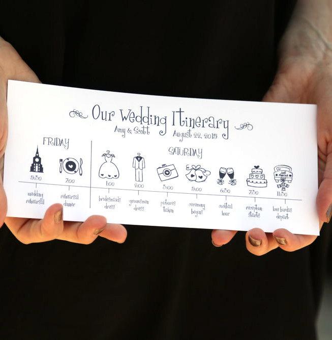 Printable Wedding Timeline - pomp creative branding your gala