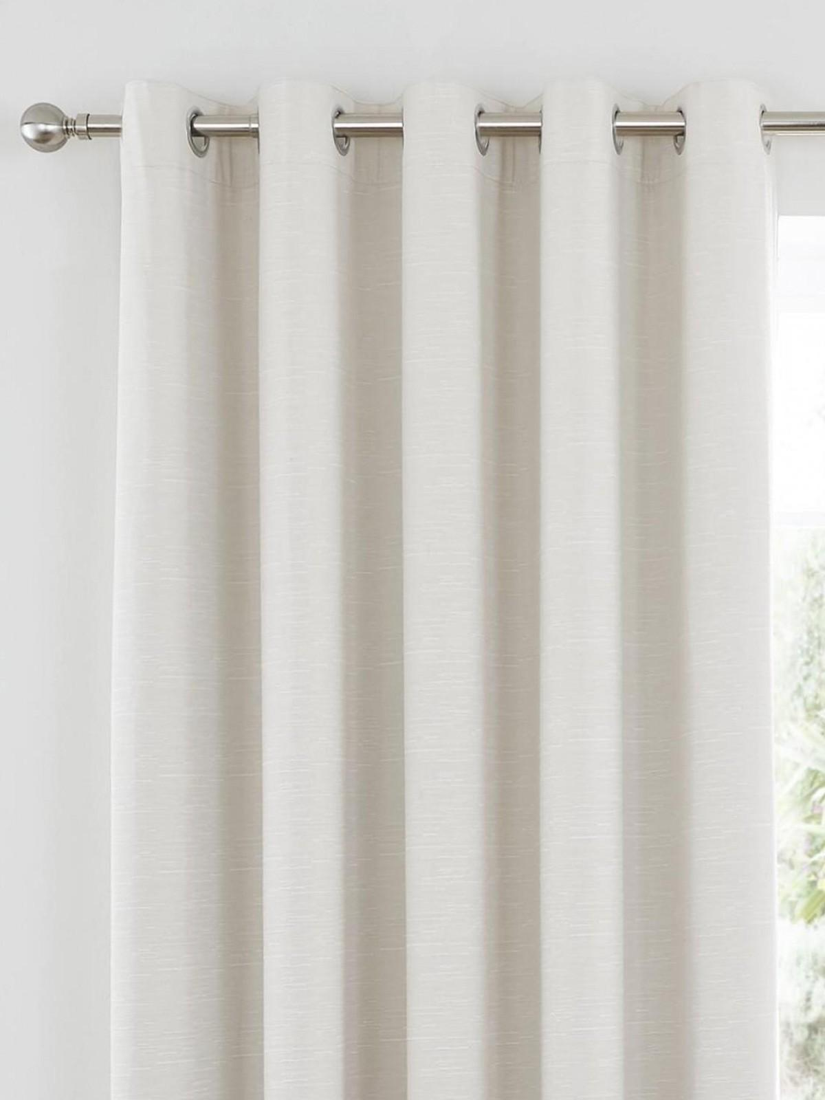 102 Inch Curtains Harmony Thermal Blackout Eyelet Curtains Cream Ponden Home
