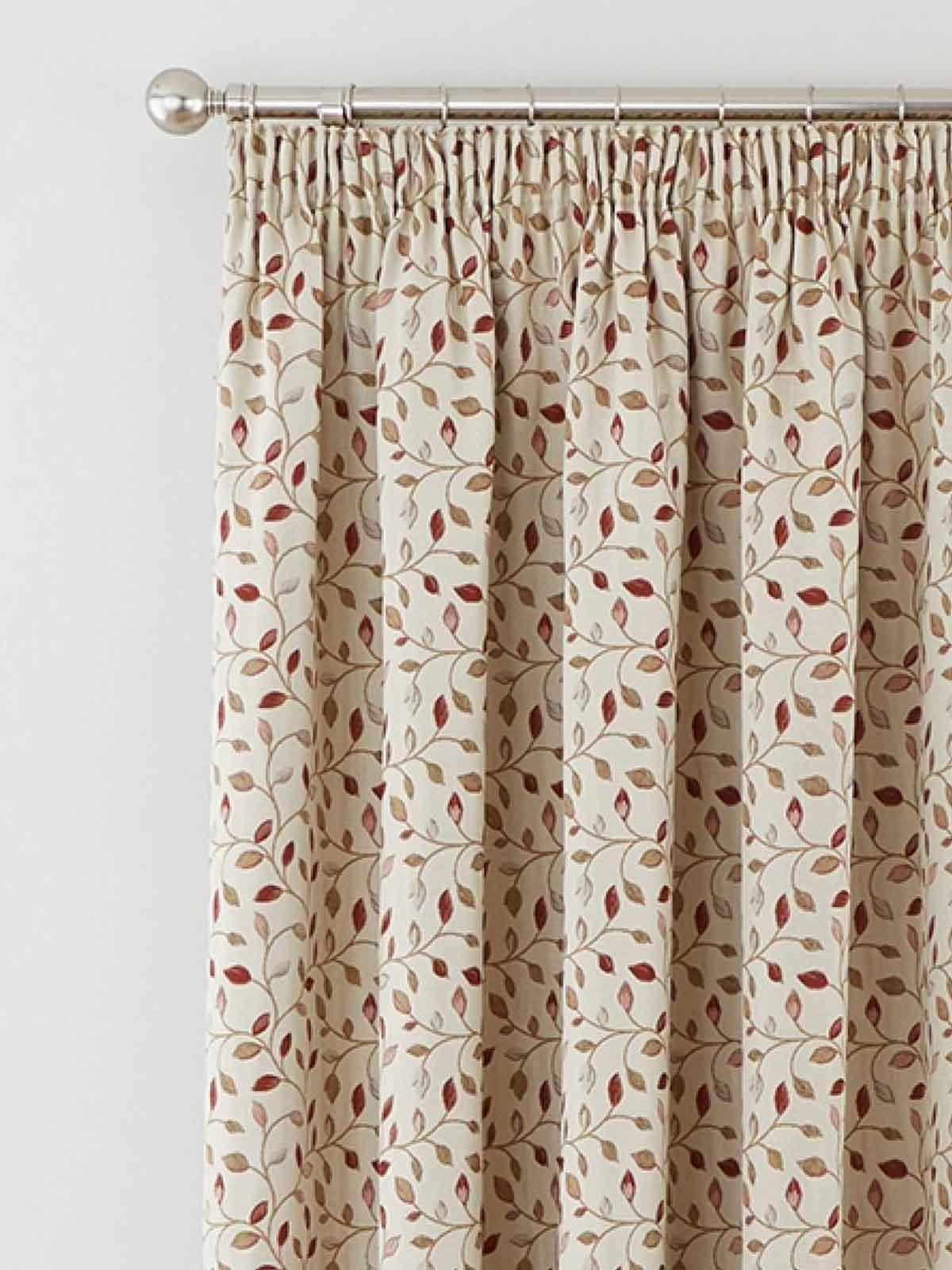 Ready Made Curtains 108 Drop Sherbourne Pencil Pleat Curtains Red Ponden Home