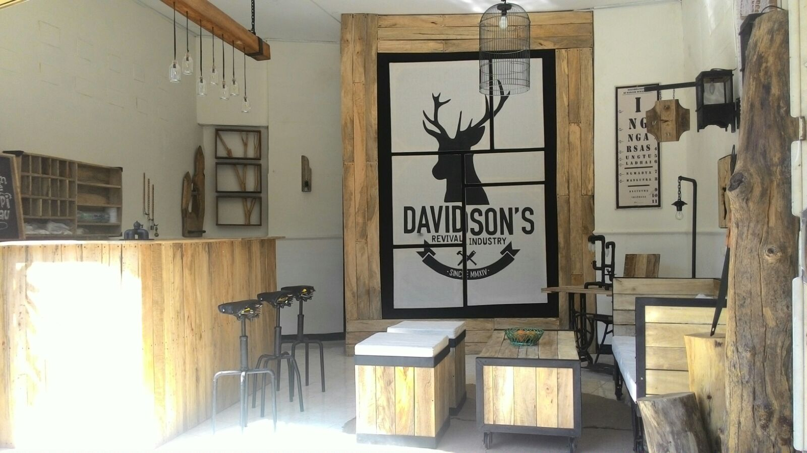Desain Cafe Mini Unik Gallery | Pondok Cabe Furniture Jati Belanda