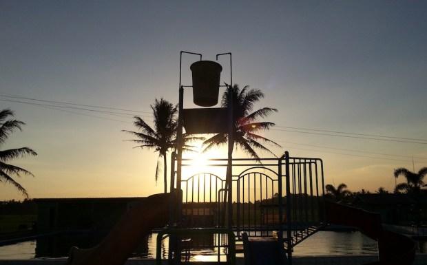 Water Byuur Sumber Ponjong di Sore Hari