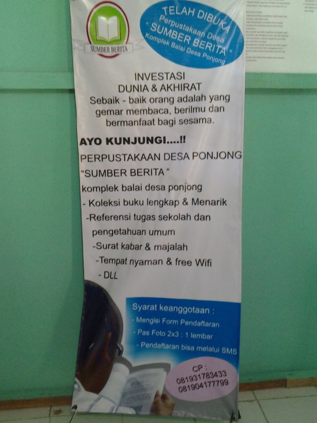 Perpustakaan Sumber Berita Desa Ponjong