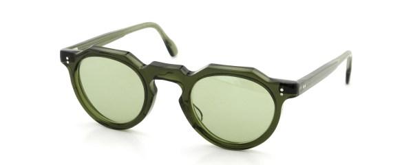 Lesca レスカ Vintage Crown-Panto type-A Green 6mm (v2) Light-Green-Lense