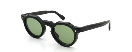 lesca Vintage Crown-Panto 8mm Black (v11) Light-Green-lense