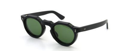 LESCA Vintage Crown-Panto 8mm Black (v14) Green-lense