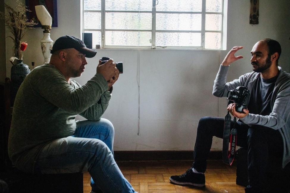 Fotógrafos Alex Silveira e Sérgio Silva, cegados por balas de borracha da PM. Foto: Caio Palazzo/Ponte Jornalismo