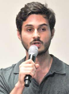 Aluno Felipe Scalisa. Foto: Daniel Garcia/Revista Adusp