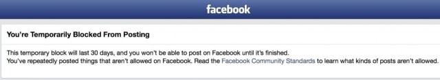 Blocked on Facebook