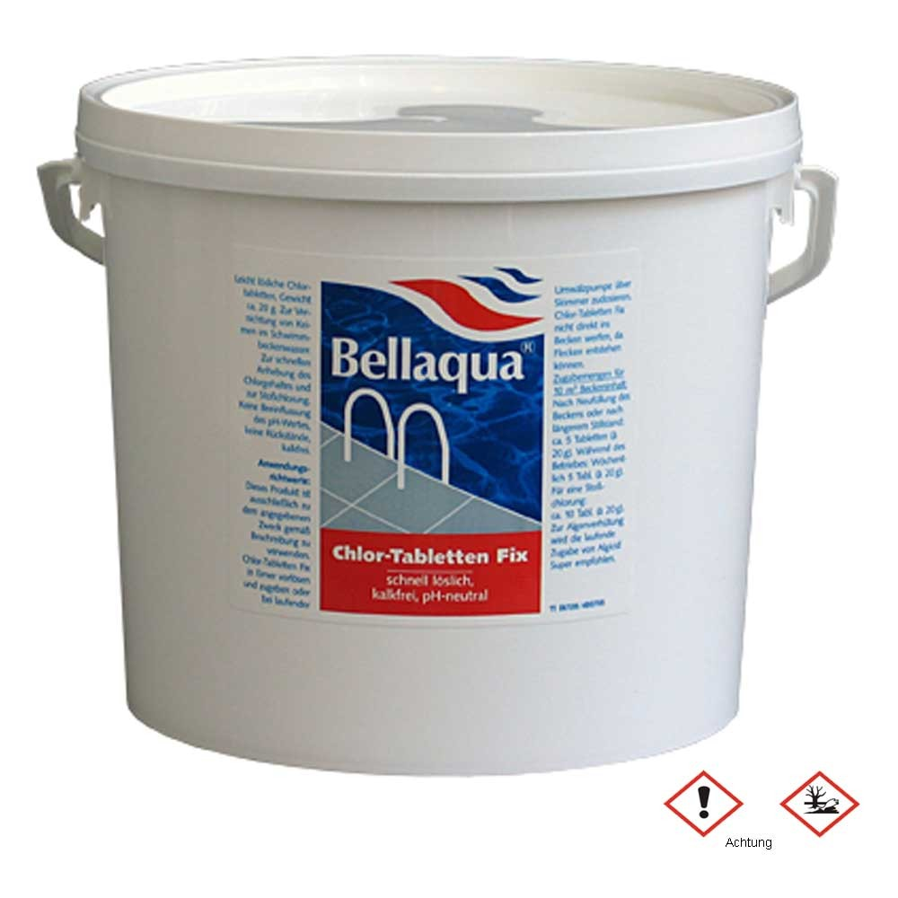 Multitabs Pool Auflösen Bellaqua Chlor Tabletten Fix 5 Kg
