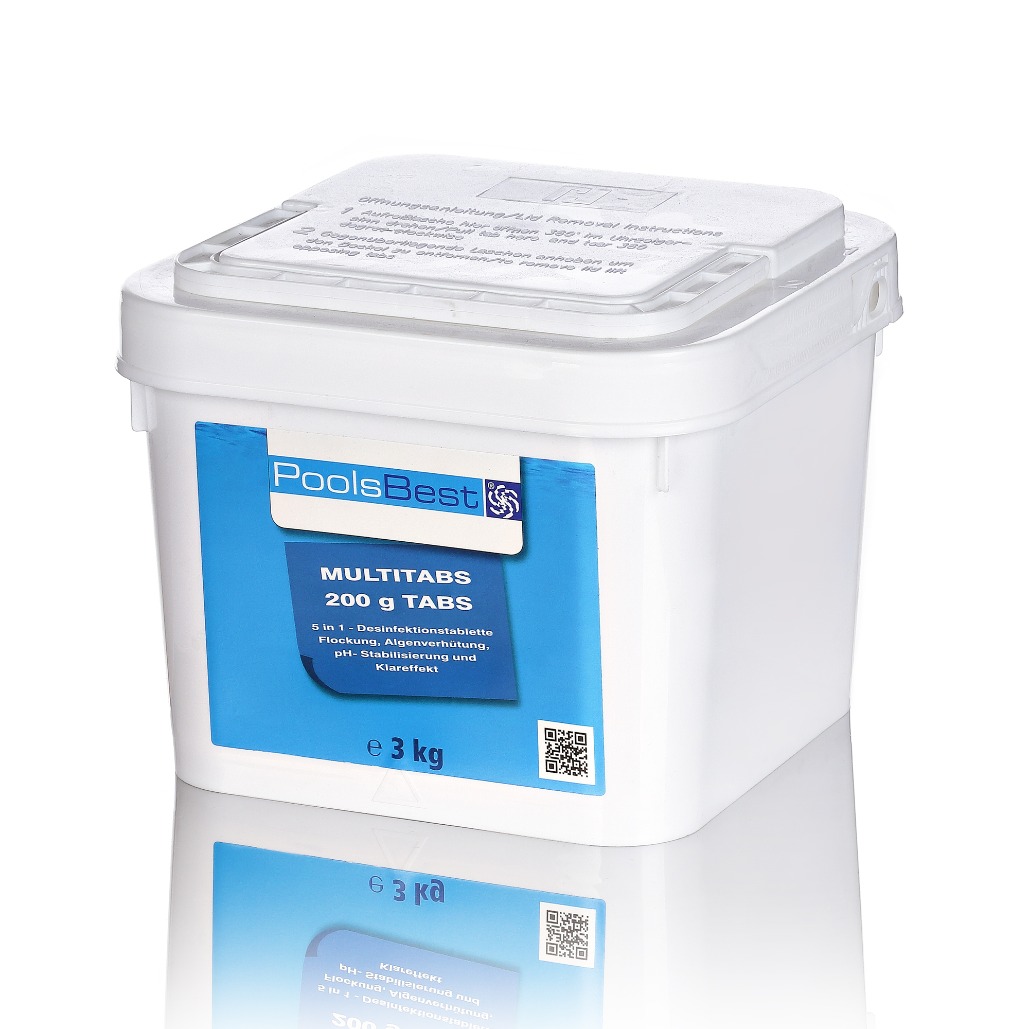 Chlortabletten Pool 5 In 1 3 Kg Poolsbest Chlor Multitabs 5 In 1 200 G Tabs