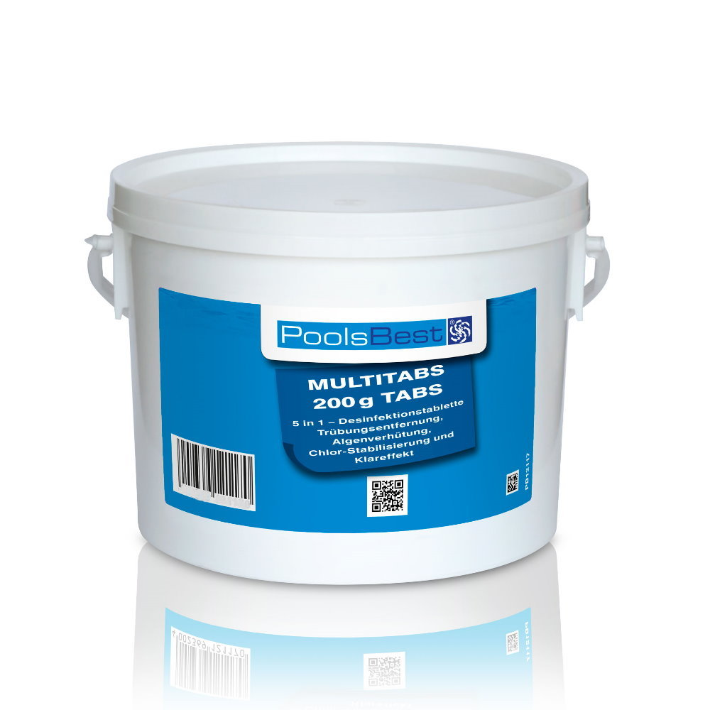 Multitabs Für Pool 3 Kg Poolsbest Chlor Multitabs 5 In 1 200 G Tabs