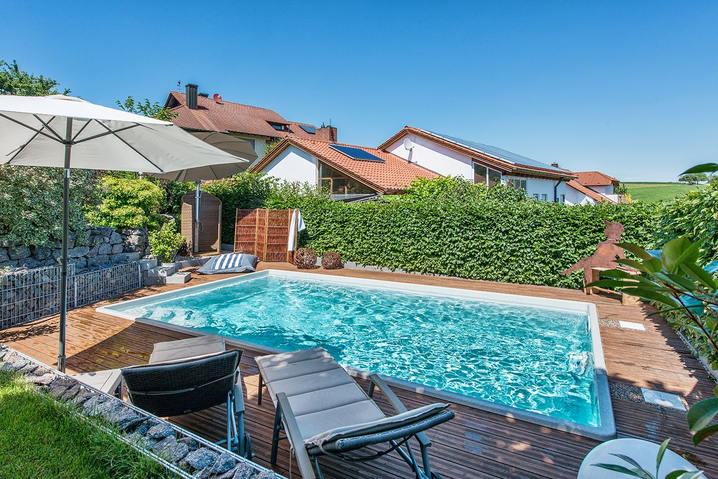 Pool Polyesterbecken Rund Pool Konzept Pool Und Wellness In Perfektion