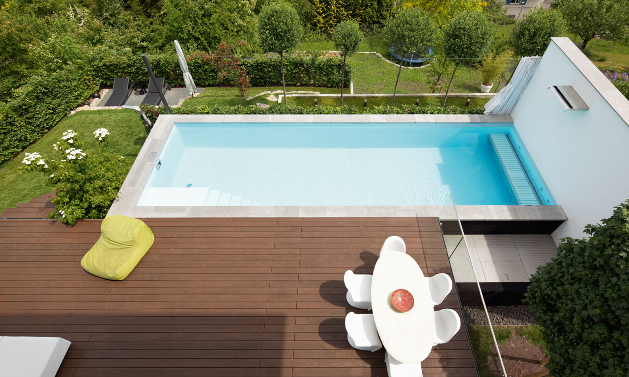 Pool In Terrasse Integriert Pool Im Weinberg Pool Magazin