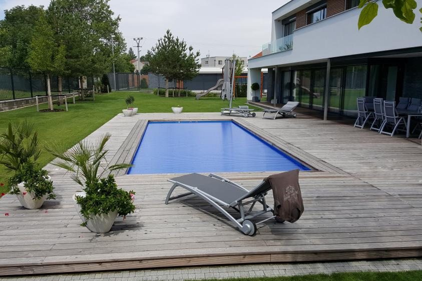 Pool Komplettset Premium One Mit Skimmer Fertigpool 3 30 - Poolabdeckung Rollo